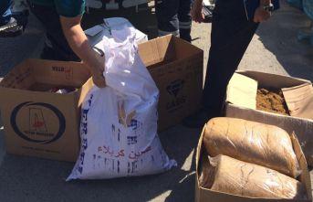 132 kilo kaçak tütün imha edildi