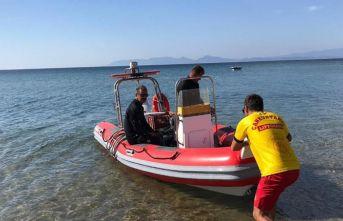 Ayvalık'ta denizde kaybolan yaşlı kadın bulundu