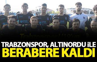 Trabzonspor U19'un rakibi Altınordu ile berabere...