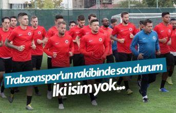 Trabzonspor'un rakibinde son durum! İki isim...
