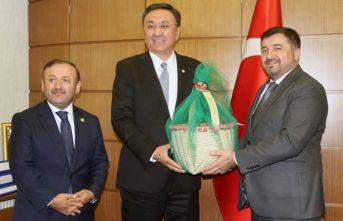 Kırgızistan Büyükelçisi Giresun'da