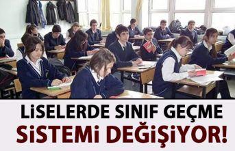 Liselerdeki sınıf geçme sistemi değişiyor