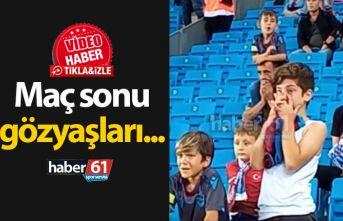 Trabzonspor'da minik taraftarların gözyaşları