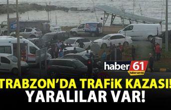 Trabzon'da trafik kazası! Yaralılar var!