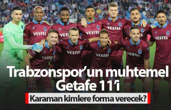 Trabzonspor'un muhtemel Getafe 11'i