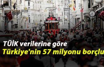 TÜİK verilerine göre Türkiye'nin 57 milyonu...