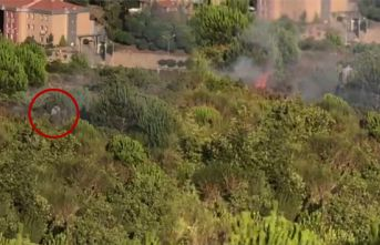 Ormanı kundaklayan kişi kameralara yakalandı!