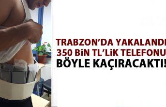 Trabzon'da atletten 350 bin TL'lik cep telefonu...