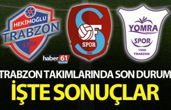 Trabzon Takımları rakipleri ile karşılaştı