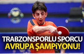 Trabzonsporlu sporcu Avrupa Şampiyonu!