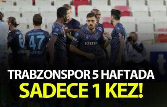 Trabzonspor 5 haftada sadece 1 kez...