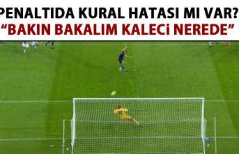 Trabzonspor'un penaltısını canlı yayında...