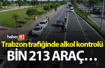 Trabzon trafiğinde alkol kontrolü – Bin 213 araç…