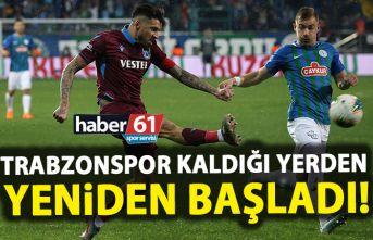 Trabzonspor kaldığı yerden başladı!