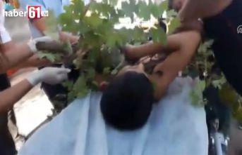 Ağaçtan düşen çocuğun koluna korkuluk demiri saplandı