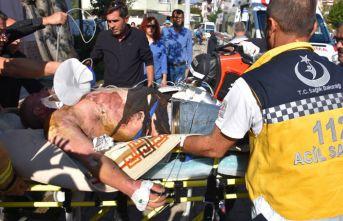 Gönen'de elektrik akımına kapılan işçi ağır yaralandı