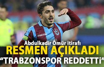 Resmen açıkladı! Trabzonspor Abdulkadir Ömür teklifini reddetti!