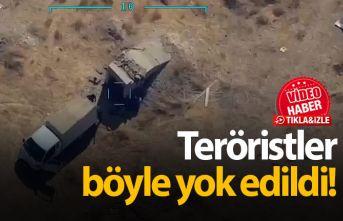 Teröristler böyle yok edildi!