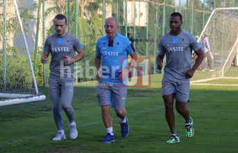 Trabzonspor'da sevindirici gelişme! İkisi de antrenmana çıktı