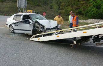 Şile yolunda feci trafik kazası