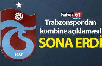 Trabzonspor'dan kombine açıklaması! Genel satışı bitti