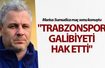 """Marius Sumudica: """"Trabzonspor galibiyeti hak..."""