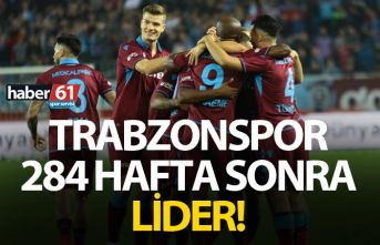 Trabzonspor 284 hafta sonra lider