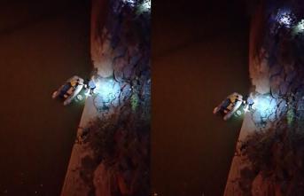Balık tutarken Çoruh Nehrine düştü!