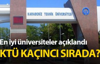 Devlet Üniversiteleri genel sıralamasında KTÜ...