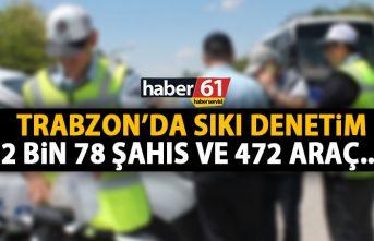 Trabzon'da kontroller devam ediyor! 2078 kişi 472...