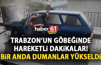 Trabzon'un göbeğinde korkutan anlar! Bir anda...