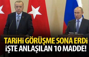 Türkiye ve Rusya 10 madde üzerinde anlaştı! İşte...