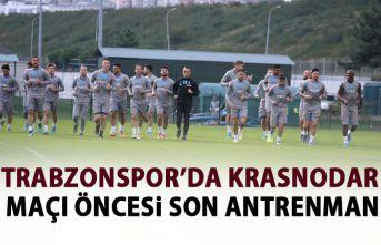 Trabzonspor Krasnodar maçı için son antrenmanını yaptı