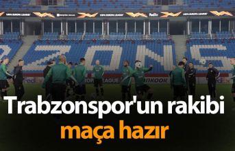 Trabzonspor'un rakibi maça hazır