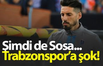 Trabzonspor'da Sosa Krasnodar maçında yok