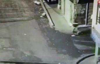Yabancı uyruklu şahsa silahlı saldırı kamerada