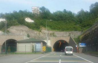 Araklı tünelinde çalışma