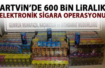 Artvin'de 600 bin liralık elektronik sigara operasyonu