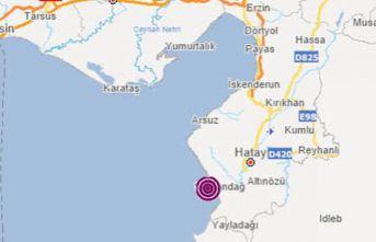 Antakya Körfezi'nde 3.5 büyüklüğünde deprem