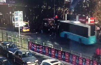 Otobüs dehşeti kamerada
