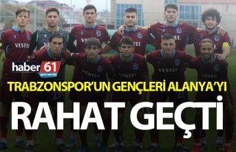 Trabzonspor'un gençleri Alanya'yı farklı...