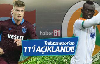 Trabzonspor'un Alanya 11'i açıklandı