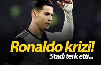 Ronaldo krizi! Stadı terk etti