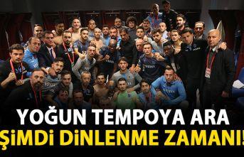 Trabzonspor'da şimdi dinlenme zamanı!