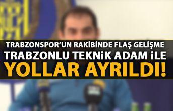 Trabzonspor'un rakibinde Trabzonlu teknik adamla yollar ayrıldı!