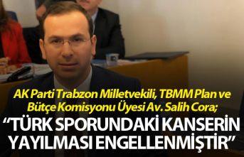 """Cora: """"Türk sporundaki kanserin yayılması engellenmiştir"""""""