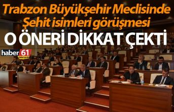 Trabzon Büyükşehir Meclisinde Şehit isimleri görüşmesi