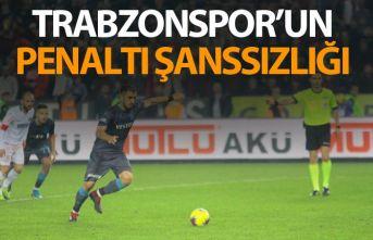 Trabzonspor'da Penaltı şanssızlığı