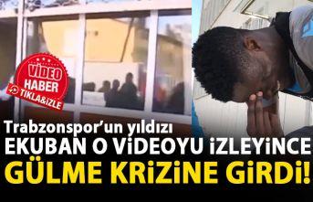 Trabzonspor'un yıldızı Ekuban gülme krizine girdi