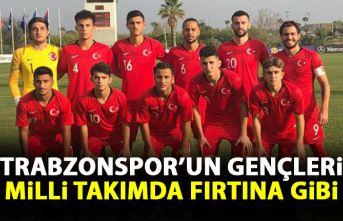 Trabzonspor'un gençleri milli takımda fırtına gibi esti
